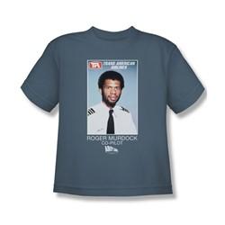 Airplane - Big Boys Roger Murdock T-Shirt In Slate