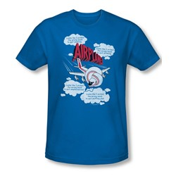 Airplane - Mens Picked The Wrong Day T-Shirt In Royal