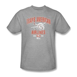 Airplane - Mens Trans American T-Shirt In Heather