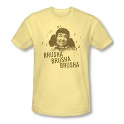 Grease - Mens Brusha Brusha Brusha T-Shirt In Banana
