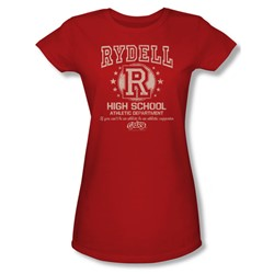 Grease - Womens Rydell High T-Shirt In Red