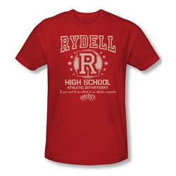 Grease - Mens Rydell High T-Shirt In Red