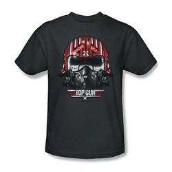 Top Gun - Mens Goose Helmet T-Shirt In Charcoal