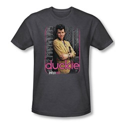 Pretty In Pink - Mens Just Duckie T-Shirt In Charcoal