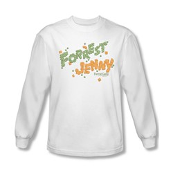 Forrest Gump - Mens Peas And Carrots Long Sleeve Shirt In White