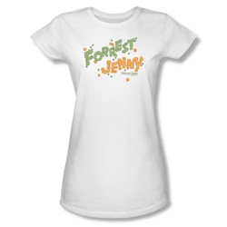 Forrest Gump - Womens Peas And Carrots T-Shirt In White