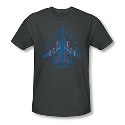 Top Gun - Mens Maverick T-Shirt In Charcoal