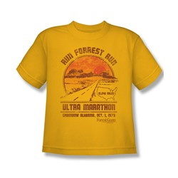 Forrest Gump - Big Boys Ultra Marathon T-Shirt In Gold