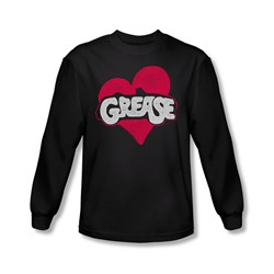 Grease - Mens Heart Long Sleeve Shirt In Black