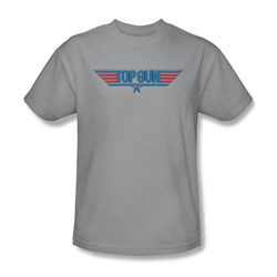 Top Gun - Mens 8 Bit Logo T-Shirt In Silver
