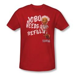 Major League - Mens Jobu Needs A Refill T-Shirt In Cardinal