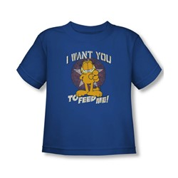 Garfield - Toddler I Want You T-Shirt In Royal