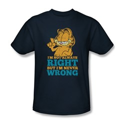 Garfield - Mens Never Wrong T-Shirt In Navy