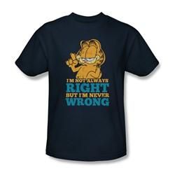 Garfield - Mens Never Wrong T-Shirt In Navy