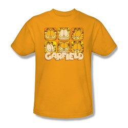 Garfield - Mens Many Faces T-Shirt In Gold