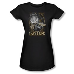 Garfield - Womens Lazy 4 Life T-Shirt In Black