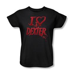 Dexter - Womens I Heart Dexter T-Shirt In Black