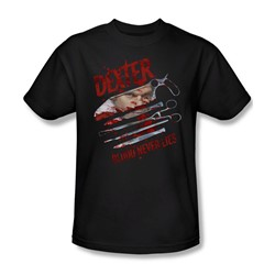 Dexter - Mens Blood Never Lies T-Shirt In Black