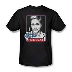 Nurse Jackie - Mens Nurses Call The Shots T-Shirt In Black