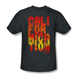 Californication - Mens Cali Type T-Shirt In Charcoal