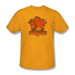 Californication - Mens Hank Retro T-Shirt In Gold