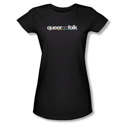 Queer As Folk - Womens Logo T-Shirt In Black