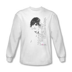 The L Word - Mens Looking Shane Today Long Sleeve Shirt In White