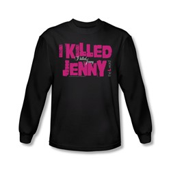 The L Word - Mens I Killed Jenny Long Sleeve Shirt In Black