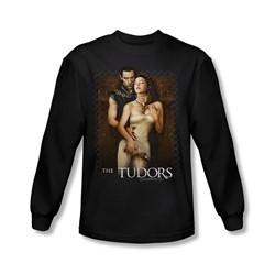 Tudors - Mens Spilt Wine Long Sleeve Shirt In Black