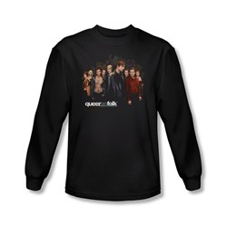 Queer As Folk - Mens Title Long Sleeve Shirt In Black