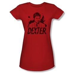 Dexter - Womens Splatter Dex T-Shirt In Red