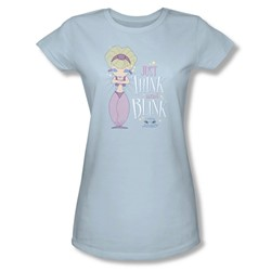I Dream Of Jeannie - Womens Think & Blink T-Shirt In Light Blue