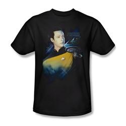 Star Trek - Mens Data 25Th T-Shirt In Black