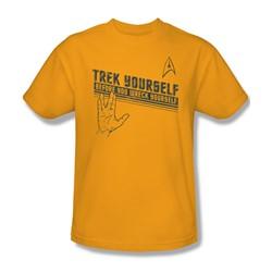 Star Trek - Mens Trek Yourself T-Shirt In Gold
