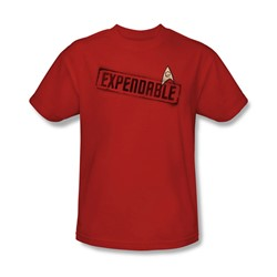 Star Trek - Mens Expendable T-Shirt In Red