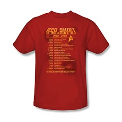 Star Trek - Mens Red Shirt Tour T-Shirt In Red