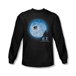 Et - Mens Moon Scene Long Sleeve Shirt In Black