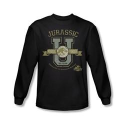 Jurassic Park - Mens Jurassic U Long Sleeve Shirt In Black