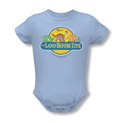 Land Before Time - Infant Dino Breakout Onesie In Light Blue
