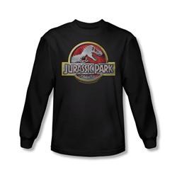 Jurassic Park - Mens Logo Long Sleeve Shirt In Black
