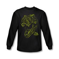 Jurassic Park - Mens Rex Mount Long Sleeve Shirt In Black