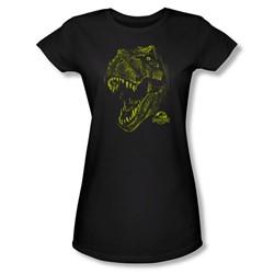 Jurassic Park - Womens Rex Mount T-Shirt In Black