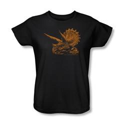 Jurassic Park - Womens Tri Mount T-Shirt In Black