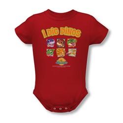 Land Before Time - Infant I Dig Dinos Onesie In Red