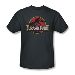 Jurassic Park - Mens Stone Logo T-Shirt In Charcoal