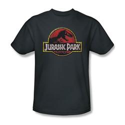Jurassic Park - Mens Stone Logo T-Shirt In Charcoal