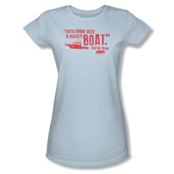Jaws - Womens Bigger Boat T-Shirt In Light Blue