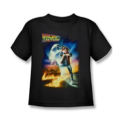 Back To The Future - Little Boys Poster T-Shirt In Black
