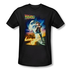 Back To The Future - Mens Poster T-Shirt In Black