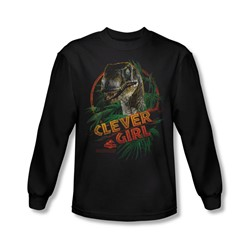 Jurassic Park - Mens Clever Girl Long Sleeve Shirt In Black
